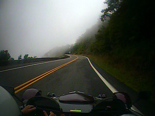 Lover's Leap in fog
