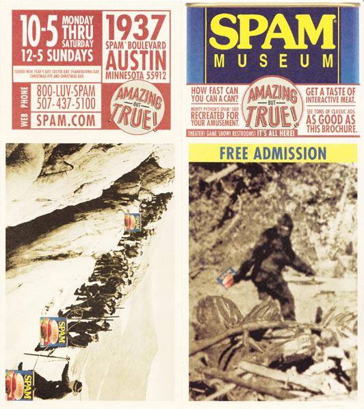 Spam Museum Brochure